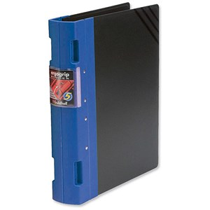 Image of Guildhall GL Ergogrip Binder / 2x 2 Prong / 55mm Spine / 40mm Capacity / A4 / Blue / Pack of 2