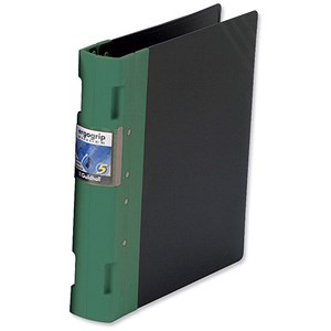 Image of Guildhall GLX Ergogrip Binder / A4 / 4x 2 Prong / 40mm Capacity / Green / Pack of 2