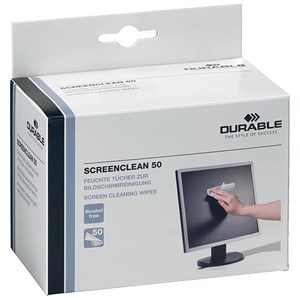 Image of Durable Screenclean Individually Packed Moist Low Lint Wipes Pre-saturated Ref 5787 [Pack 50 sachets]