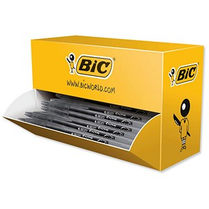 Image of Bic Cristal V2 Rollerball Pen / Gel Ink / 0.7mm Tip / 0.5mm Line / Black / Pack of 35 plus 5 FREE
