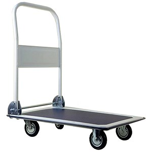 Image of 5 Star Medium/duty Platform Truck / Capacity 150kg / Blue and Grey