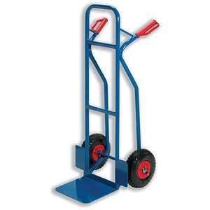 Image of Warehouse Hand Trolley / Capacity 180kg / Blue