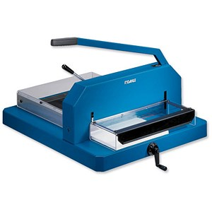 Image of Dahle 846 Heavy-duty Guillotine - Spindle / Cutting Length 430mm (A3) / Capacity 480x 80gsm