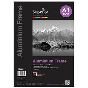 Image of Photo Frame Clip In Aluminium with Clear Front - A1