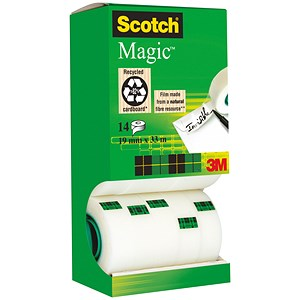 Image of Scotch Magic Tape 12 rolls with 2 FREE rolls - 19mmx33m