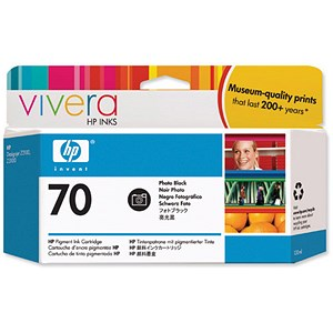 Image of HP 70 Photo Black Ink Cartridge