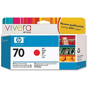 Image of HP 70 Red Ink Cartridge