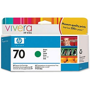 Image of HP 70 Green Ink Cartridge