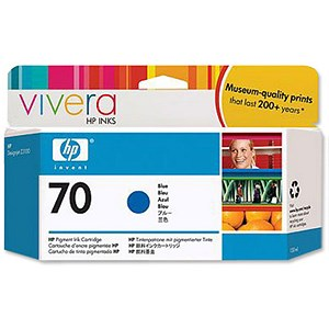 Image of HP 70 Blue Ink Cartridge