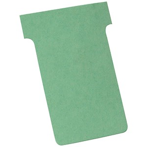 Image of Nobo T-Cards 160gsm Tab Top 15mm W60x Bottom W48.5x Full H85mm Size 2 Green Ref 32938902 [Pack 100]