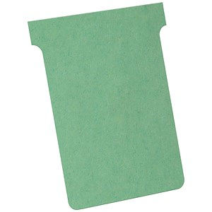 Image of Nobo T-Cards 160gsm Tab Top 15mm W92x Bottom W80x Full H120mm Size 3 Green Ref 32938913 [Pack 100]