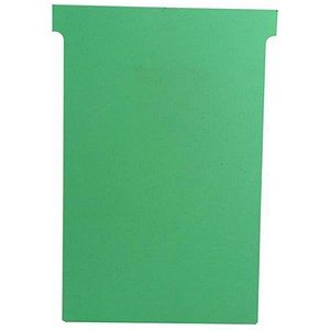 Image of Nobo T-Cards 160gsm Tab Top 15mm W124x Bottom W112x Full H180mm Size 4 Green Ref 32938924 [Pack 100]