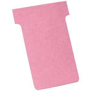 Image of Nobo T-Cards 160gsm Tab Top 15mm W60x Bottom W48.5x Full H85mm Size 2 Light Pink Ref 2002008 [Pack 100]