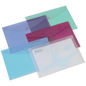 Image of Rexel Carry Folders / Polypropylene / A4 / Translucent Assorted / Pack of 6