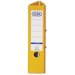 Image of Elba A4 Lever Arch Files / Board / 80mm Spine / Yellow / Pack of 10