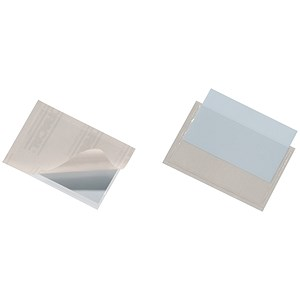 Image of Durable Pocketfix Self-adhesive Business Card Pocket / Top-opening 57x90mm / Pack of 10