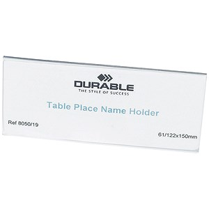 Image of Durable Table Place Name Holders / 63x150mm / Pack of 25