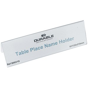 Image of Durable Table Place Name Holders / 61x210mm / Pack of 25