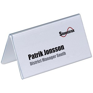 Image of Durable Inserts for Duraprint Table Place Name Holders / 52x100mm / Pack of 40