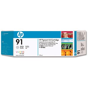 Image of HP 91 Pigment Light Grey Ink Cartridge