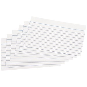 Image of 5 Star Record Cards / Ruled Both Sides / 127x76mm / White / Pack of 100