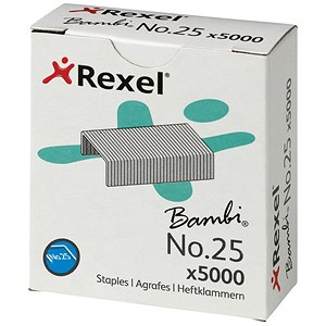 Image of Rexel No. 25 Staples (4mm) - Pack of 5000