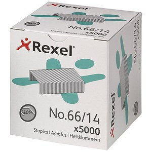 Image of Rexel 66 Staples (14mm) - Pack of 5000