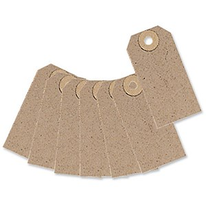 Image of Unstrung Tags / 82x41mm / Buff / Pack of 1000