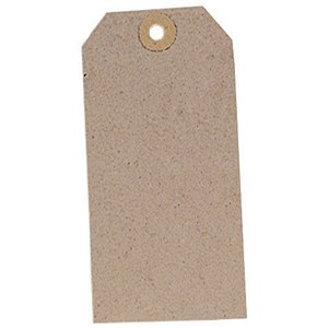 Image of Unstrung Tags / 120x60mm / Buff / Pack of 1000