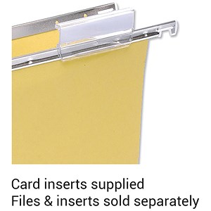 Image of 5 Star Card Inserts for Clenched Bar Suspension File Tabs / White / Pack of 50