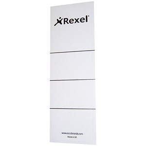 Image of Rexel Replacement Spine Labels / 60x191mm / 29300EAST / Pack of 100
