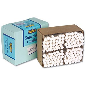 Image of Stephens Superline Chalk / White / Pack of 144