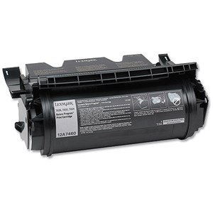 Image of Lexmark 12A7460 Black Laser Toner Cartridge