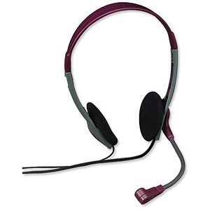 Image of Compucessory Lightweight Headset 1.8m Cord Black Ref CCS55222
