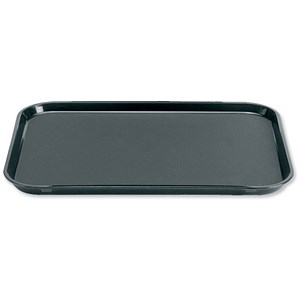 Image of Dishwasher Safe Non-Slip Polypropylene Rectangular Tray / W390xD290mm / Black