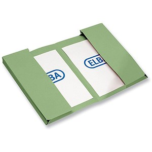 Image of Elba Twin Pocket Wallets / Foolscap / Green / Pack of 25