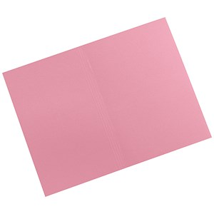 Image of 5 Star Square Cut Folders / 315gsm / Foolscap / Pink / Pack of 100