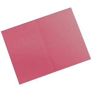 Image of 5 Star Square Cut Folders Manilla 315gsm Foolscap Red [Pack 100]