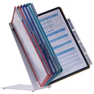 Image of Complete Desk Display Unit / 10 Tabs & 10 Panels / A4 / Assorted
