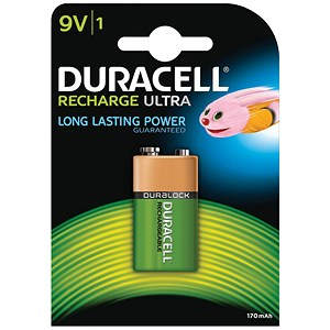 Image of Duracell Rechargeable Battery / Accu NiMH 170mAh 9V