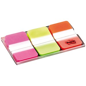 Image of Post-it Strong Index / Pink, Green & Orange / Pack of 66