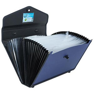 Image of Concord Expanding Organiser File / Polypropylene / 24-Part / Foolscap / Blue & Black