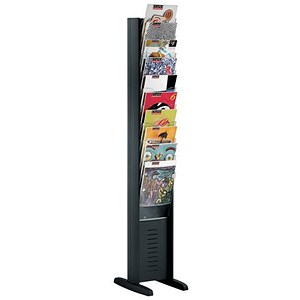 Image of Fast Paper Floorstanding Display / 10 Compartments /Black