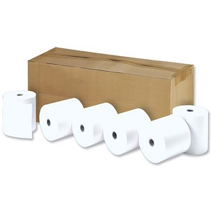Image of Thermal Printer Rolls / Width 44mm x Diam 80mm x Core 17.5mm / 1-Ply / Pack of 20