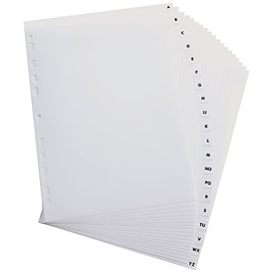 Image of Elba Dividers / Europunched / A-Z with Clear Tabs / A4 / White