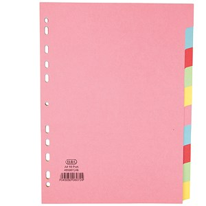 Image of Elba Subject Dividers / 10-Part / A4 / Assorted