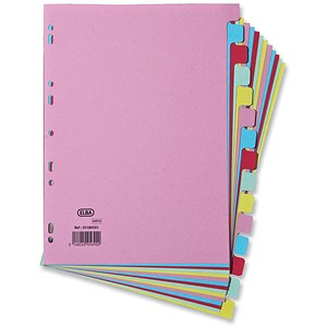 Image of Elba Card Dividers / Europunched / 15-Part / A4 / Assorted