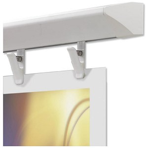 Image of Nobo Pro-Rail Wall Rail for Displays - 2.4m