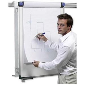 Image of Nobo Pro-Rail Flipchart Holder for Wall Rail - 970x665mm