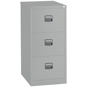 Image of Trexus 3-Drawer Filing Cabinet / Foolscap / Grey